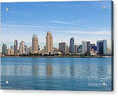 Acrylic Print featuring the digital art Americas Finest City by Kenneth Montgomery