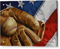 America's Pastime Acrylic Print by Cory Still