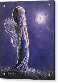 Amethyst Fairy By Shawna Erback Acrylic Print by Shawna Erback