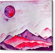 Amethyst Range Acrylic Print by Beverley Harper Tinsley