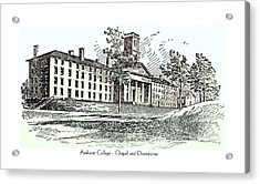 Amherst College - Chapel And Dormitories Acrylic Print