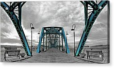 Amid The Bridge Acrylic Print by Steven Llorca