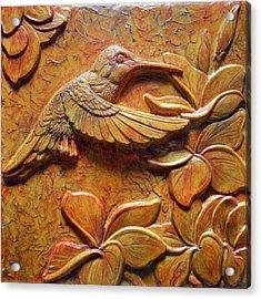 Amid The Plumeria Acrylic Print by Jeremiah Welsh