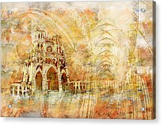 Amiens Cathedral Acrylic Print by Catf