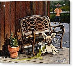 Amigo Acrylic Print by Joy Bradley