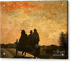 Amish After A Hard Days Work Acrylic Print