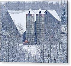 Amish Barn Acrylic Print by Jack Zievis