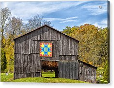 Amish Barn With Hex Acrylic Print