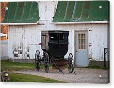 Amish Buggy White Barn Acrylic Print