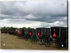 Acrylic Print featuring the photograph Amish Car Park by Debra Kaye McKrill