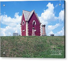 Acrylic Print featuring the photograph Amish Cemetery by Gena Weiser