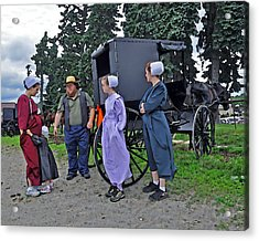 Amish Family Travelers Acrylic Print by Brian Graybill