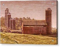 Amish Farm Acrylic Print by Debra and Dave Vanderlaan