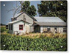 Amish Farm In Tennessee Acrylic Print by Kathy Clark