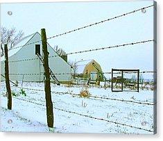 Amish Farm In Winter Acrylic Print