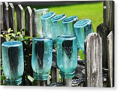 Amish Fence Acrylic Print by William Rockwell