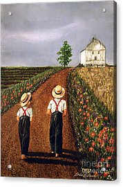 Amish Road Acrylic Print