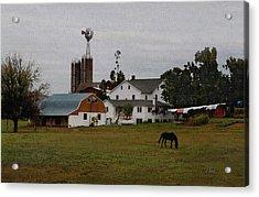 Amish Wash Day Acrylic Print by Gordon Beck