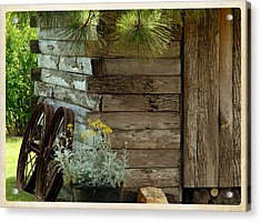 Amish Wood Shed Acrylic Print by Lena Wilhite