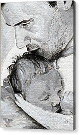 Amit And Mika Acrylic Print by Tamir Barkan