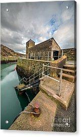 Amlwch Port Lighthouse Acrylic Print by Adrian Evans