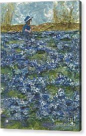 Among The Blue Bonnets Acrylic Print by Lynn Babineau