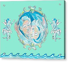 Amor In Aqua Acrylic Print by John Keaton