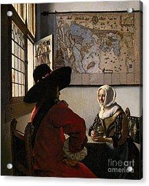 Amorous Couple Acrylic Print by Jan Vermeer