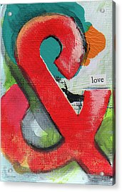 Ampersand Love Acrylic Print by Linda Woods