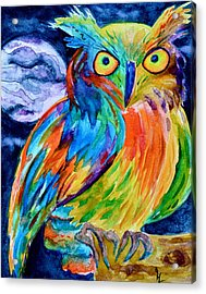 Ampersand Owl Acrylic Print by Beverley Harper Tinsley