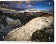 Amphitheater Of Snow Canyon Acrylic Print by Nick Oman