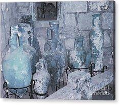 Amphora In Blue Acrylic Print