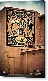 Amplify Your Voice Acrylic Print by Colleen Kammerer
