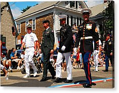 Amred Forces Salute Acrylic Print by James Kirkikis