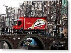 Amstel Bier Acrylic Print by John Rizzuto