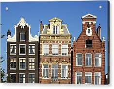 Amsterdam - Gables Of Old Houses At The Herengracht Acrylic Print