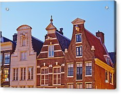 Amsterdam - Gables Of Old Houses At The Keizersgracht In The Evening Acrylic Print