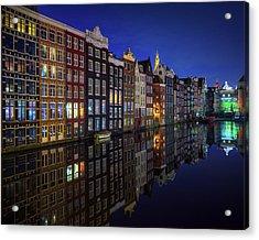 Amsterdam At Night 2017 Acrylic Print