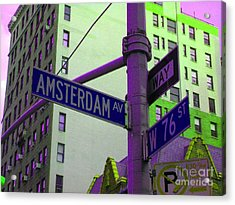 Amsterdam Avenue Acrylic Print by Susan Carella