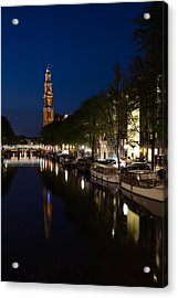 Acrylic Print featuring the photograph Amsterdam Blue Hour by Georgia Mizuleva