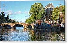 Amsterdam Canal Bridge Acrylic Print by Gregory Dyer