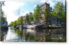 Amsterdam Canal View - 03 Acrylic Print by Gregory Dyer