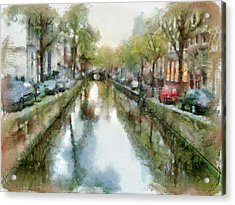 Amsterdam Canals View Acrylic Print