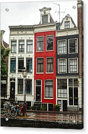 Amsterdam  Crooked Houses Acrylic Print by Gregory Dyer
