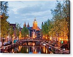 Amsterdam Acrylic Print by Artur Bogacki