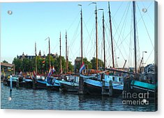 Amsterdam Sailing Ship - 06 Acrylic Print by Gregory Dyer