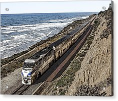 Amtrak By The Ocean Acrylic Print