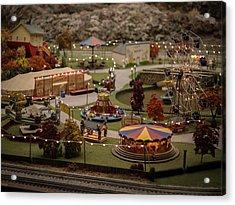 Amusement Park Acrylic Print by Carl Engman