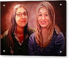 Amy And Penny Acrylic Print
