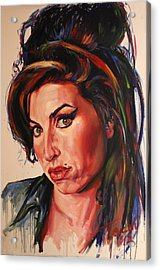 Amy Acrylic Print by Tachi Pintor